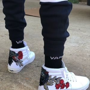 Vans Shoes - 🐺 Custom Wolf Rose Embroidered Vans Sneakers 920169c7c